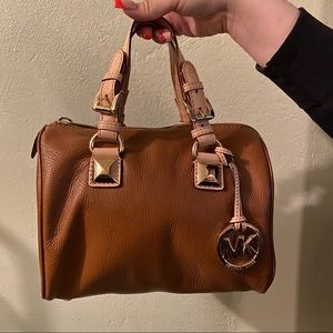 Michael Kors small brown Grayson handbag